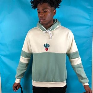 Awesome blue,green,red,and white Cactus Hoodie